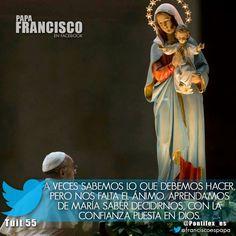 A veces sabemos lo que debemos hacer, pero nos falta el ánimo. Aprendamos de María saber decidirnos, con la confianza puesta en Dios.