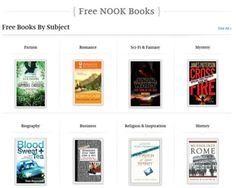 6 Great Websites for Free Nook Books: Barnes & Noble Free Nook Books