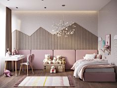 startling Pink Bedrooms With Images, Tips And Accessories To Help You Decorate Yours Welcome to a new collection of interior designs featuring 16 Awe-Inspiring Contemporary Bedroom Designs That You Must See Right Now. Girl Bedroom Designs, Girls Bedroom, Bedroom Decor, Pink Bedrooms, Master Bedrooms, Master Suite, Pink Bedding, Kids Room Design, Room Interior