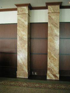 Faux Marble Columns.   The Venetian Garfield, NJ