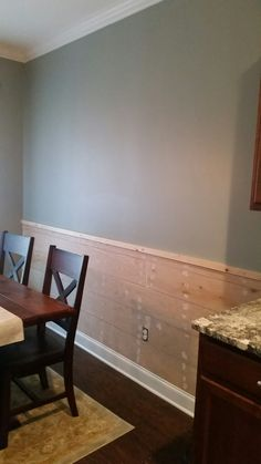 My Shiplap Chair Rail In My Kitchen Paint Color Is