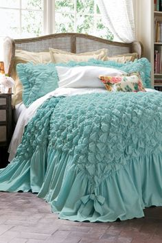 Clara Smocked Coverlet - Diamond Stitch Coverlet, Light Cotton Coverlet | Soft Surroundings