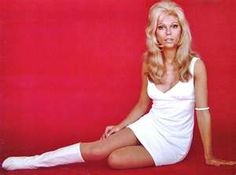 Mini Skirts and go go boots: model Nancy Sinatra