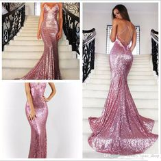 Backless Sequin Prom Dresses 2017 Mermaid New Fashion Open Backs Sparkle Glitter Prom Gowns V Neck With Appliques Formal Party Dresses Petite Prom Dress Plus Sized Prom Dresses From Honey_qiao_shop, $110.56| Dhgate.Com