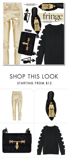 """""""Fringe"""" by paculi ❤ liked on Polyvore featuring Topshop, Sanayi 313 and fringe"""