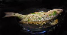 Korean pan-fried whole fish is simple to make and delicious to eat. This recipe produces a yellow croaker that's crispy outside and juicy inside.