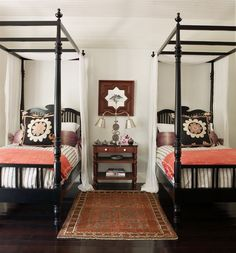 Something about fall and winter re-ignites my love of classic four poster and canopy beds. I think because they are just so COZY looking. I am truly obsessed with my canopy bed. And it wasn't our only one- we also had that fabulous white IKEA canopy bed in our old guest room (now baby nursery) …
