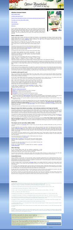 GrowYouthful.com/*** Alkaline Ionised Water