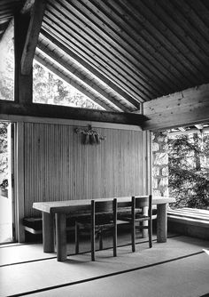 Charlotte Perriand - Chalet in Meribel les Allues - France - 1960 Charlotte Perriand, Architecture Details, Interior Architecture, Interior And Exterior, Interior Design, Pierre Jeanneret, Le Corbusier, Eero Saarinen, Alvar Aalto
