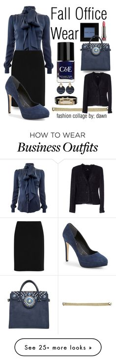 """""""Fall Work Wardrobe"""" by dawn-lindenberg on Polyvore featuring Bobbi Brown Cosmetics, Crabtree & Evelyn, Tory Burch, Lord & Taylor, Michael Kors, Safiyaa, Alexander Wang, Rena Lange, LORAC and Nine West"""