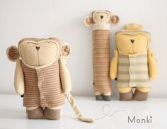Monki Design Doll 100% fair.... handwoven and dyed with natural colors, made of organic cotton... ♥ by Jees