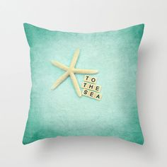 Starfish #pillow 18x18 or 22x22 pillow To the by VintageChicImages, $40.00 #starfish #homedecor #typography #etsy
