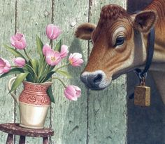 Spring on the Farm ~ Richard Cowdrey Painting Tools, Painting Frames, Farm Images, Country Scenes, Step By Step Painting, Farm Animals, Color Show, Decoupage, Mosaic