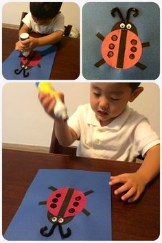 Fluttering through the Seasons: Mommy School ~ Ll is for Ladybug and Leaves