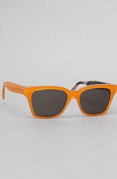 0f03220e008c The America Print Sunglasses in Orange and Sunset by Super Sunglasses