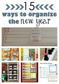 Here's a round up for 15 great ideas for organizing the New Year!