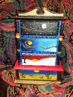 Acrylic Painted Jewelry Box.