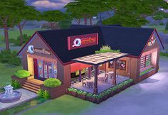Sim can hang out here with club members, play darts, show off dance step, or sip nice hot cafe latte. NoCC are used & play tested. Sims 2 House, Sims 4 House Building, Sims House Design, The Sims 4 Lots, Sims Four, Sims 4 Build, Sims Community, Sims 4 Cc Finds, The Sims4