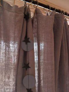 rideaux chanvre gris - Rideaux Salon