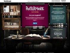 Pottermore, le réseau social des fans d'Harry Potter...j'aurais pu le caser dans la rubrique WTF! A qd un réseau pour les fan de Borat!