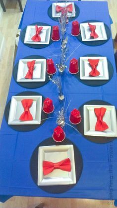 Matt Smith inspired party table - Throw a Doctor Who Season Premiere Party