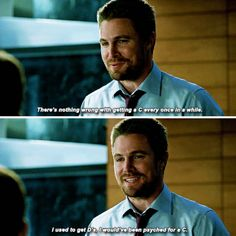 Arrow 6x03 I find it so funny Felicity knew word for word what he told William because she knows him so well ❤