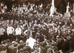 """""""The Fools, the fools, the fools! - they have left us our Fenian dead, and while Ireland holds these graves, Ireland unfree shall never be at peace.""""  On this day 1915, 70,000 people lined the streets of Dublin leading up to Glasnevin Cemetery for the funeral of Jeremiah O'Donovan Rossa. A man named Pádraig Pearse stepped forward and read an oration which would go down in Irish History."""