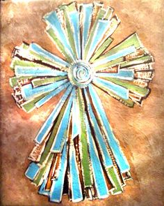 16x20 gallery wrapped canvas painting of a contemporary cross. $100 plus shipping