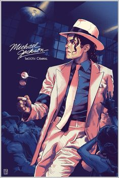 Michael Jackson - Smooth Criminal - PosterSpy - - A tribute to the King of Pop himself! Michael Jackson Smooth Criminal, Queen Michael Jackson, Michael Jackson Poster, Michael Jackson Drawings, Michael Jackson Pics, Michael Jackson Thriller, Michael Jackson Painting, Michael Jackson Wallpaper, Rock Posters