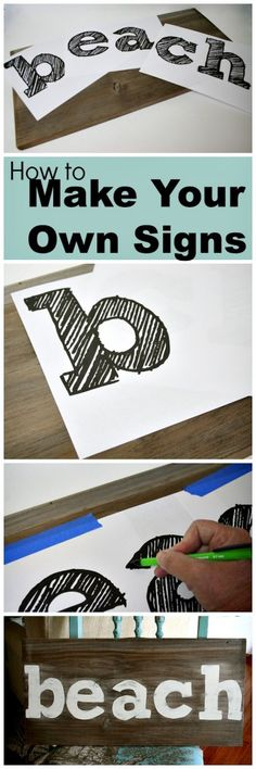 Easy sign making idea!  No special cutting tools required! #signs #diycraft