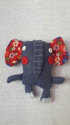 Handmade felt dolls elephant
