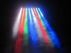 Efeito de iluminação: Moving Bar Beam 8 LEDs 10W RGBW DMX Áudio-Rítmico