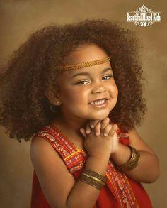Rayna - 3 Years • Irish & African American ❤ FOLLOW @beautifulmixedkids on instagram