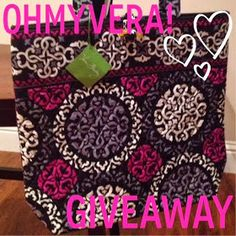 OhMyVera! A blog about all things Vera Bradley: OhMyVera's Fouth Anniversary Canterberry Magenta Tote Giveaway