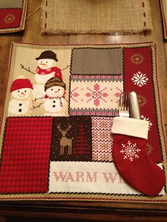 Place-mat & utensil stocking