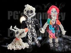 Nightmare Before Christmas Series on the Rainbow Loom - a product of PG's Loomacy.  Check out my channel at http://www.youtube.com/user/loomacy
