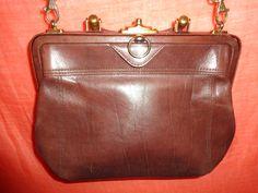 Vintage Handtaschen - Tasche*Vintage*Braun*Leder*bag - ein Designerstück von SweetSweetVintage bei DaWanda