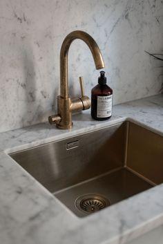 fab brass faucet #brass #kitchen