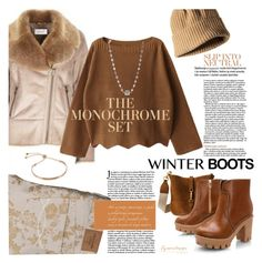 """Cozy Winter Boots"" by eyesondesign ❤ liked on Polyvore featuring Abercrombie & Fitch, winterboots and eyesondesignfashion"