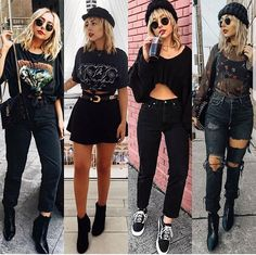 Style, Grunge, Hairstyle and Indie Outfits, Grunge Outfits, Rock Outfits, Edgy Outfits, Grunge Fashion, Look Fashion, 90s Fashion, Fall Outfits, Cute Outfits