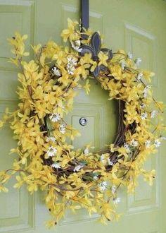Diy Hanging Shelves, Diy Wall Shelves, Mason Jar Crafts, Mason Jar Diy, Dollar Tree Storage Bins, Forsythia Wreath, Diy Garage Door, Diy Spring Wreath, Easter Colors