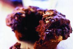 Muffiny s trojí čokoládou