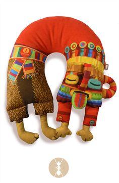 "Mostrar detalles para ""Diablo Huma dormido"" Diablo Huma, Ecuador, Masks, Pillows, Handmade, Canvas, Good Morning, Cute Stuff, Illustrations"
