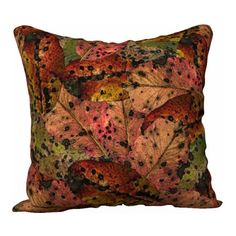 Brown Fall Leaf Pillow Cover Pillow Case Throw Pillow Printed... ($30) ❤ liked on Polyvore featuring home, home decor, throw pillows, pillow cover, square pillow insert, square throw pillows, brown accent pillows, autumn home decor and brown toss pillows
