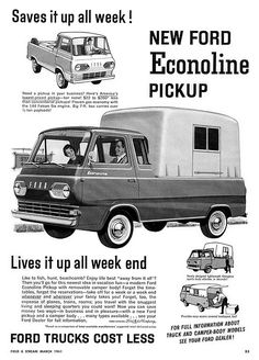 Ford Econoline Camper from a 1961 Field & Stream mag.