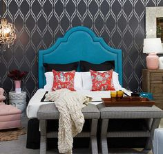 Wall Stencil Lattice Trellis Pattern Wall Room Decor Made by OMG Stencils Home Improvements Color Paintings 0234