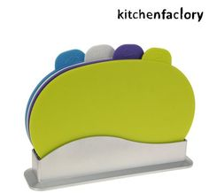 Set of 4 Colour Coded Cutting Chopping Mat Board With Holder Stand Home Kitchens, Toy Chest, Storage Chest, Coding, Cool Stuff, Ebay, Design, Home Decor, Colour