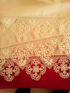Examples of fine needle - Knitting Bead Crochet, Irish Crochet, Free Crochet, Needle Lace, Needle And Thread, Tatting Tutorial, Point Lace, Crochet Tablecloth, Linens And Lace
