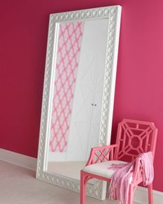 Lilly mirror {omg the pink wall!!}