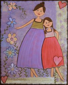 LOVE & FRIENDSHIP - The relationship between mother and child will grow in different directions over the years. From love, to friendship... Always evolving... always with love.